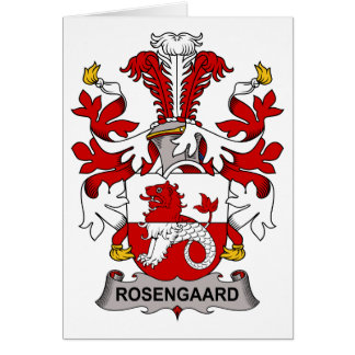 Escudo de la familia de Rosengaard Tarjeta De Felicitación