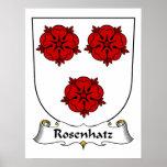 Escudo de la familia de Rosenhatz Posters