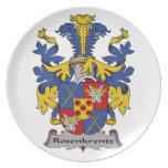 Escudo de la familia de Rosenkrentz Plato De Comida