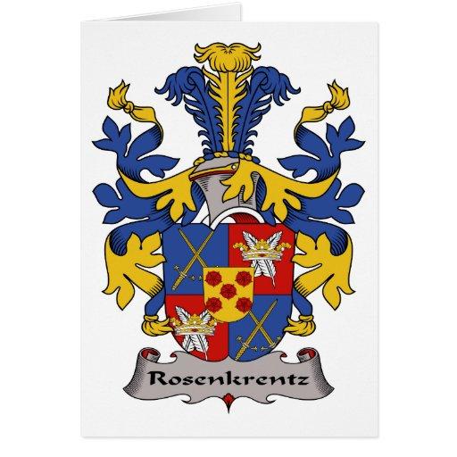 Escudo de la familia de Rosenkrentz Tarjetón