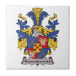 Escudo de la familia de Rosenkrentz Teja Cerámica