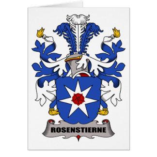 Escudo de la familia de Rosenstierne Tarjetón