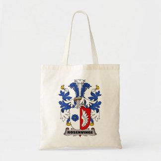 Escudo de la familia de Rosenvinge Bolsas De Mano