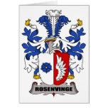 Escudo de la familia de Rosenvinge Felicitacion