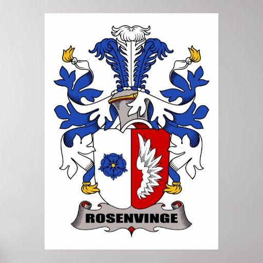 Escudo de la familia de Rosenvinge Impresiones