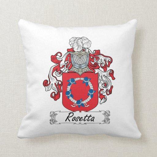 Escudo de la familia de Rosetta Cojines
