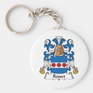 Escudo de la familia de Rosset Llaveros Personalizados