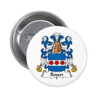Escudo de la familia de Rosset Pins