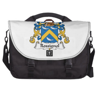 Escudo de la familia de Rossignol Bolsas Para Ordenador