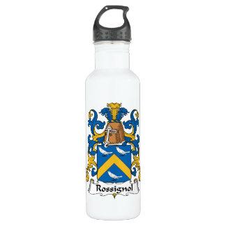 Escudo de la familia de Rossignol Botella De Agua
