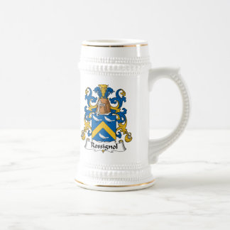 Escudo de la familia de Rossignol Jarra De Cerveza