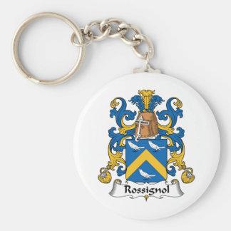 Escudo de la familia de Rossignol Llavero Redondo Tipo Pin