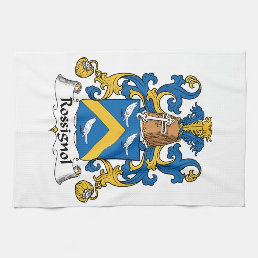 Escudo de la familia de Rossignol Toallas De Cocina