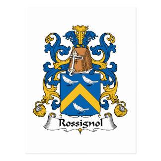 Escudo de la familia de Rossignol Postales