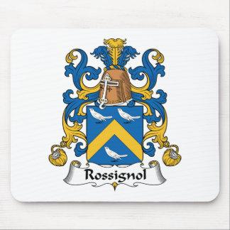 Escudo de la familia de Rossignol Tapetes De Ratones
