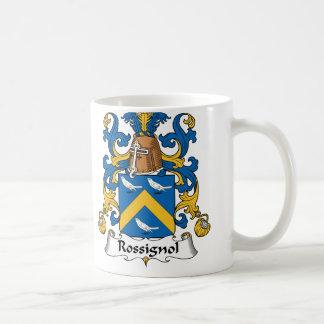 Escudo de la familia de Rossignol Taza De Café