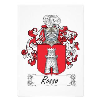 Escudo de la familia de Rosso Comunicado Personalizado