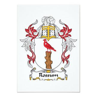 """Escudo de la familia de Rossum Invitación 5"""" X 7"""""""