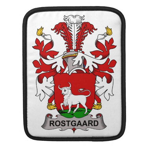 Escudo de la familia de Rostgaard Funda Para iPads
