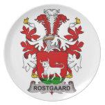 Escudo de la familia de Rostgaard Platos