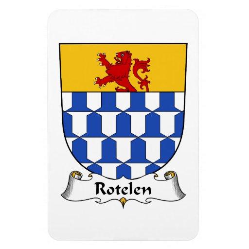 Escudo de la familia de Rotelen Imán De Vinilo