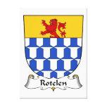Escudo de la familia de Rotelen Lona Envuelta Para Galerias