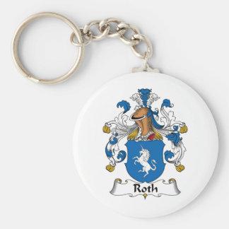 Escudo de la familia de Roth Llavero Redondo Tipo Pin