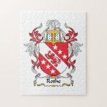 Escudo de la familia de Rothe Rompecabezas Con Fotos