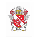 Escudo de la familia de Rothe Tarjetas Postales