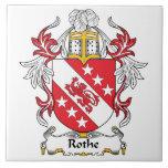 Escudo de la familia de Rothe Teja Ceramica