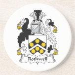 Escudo de la familia de Rothwell Posavasos Manualidades