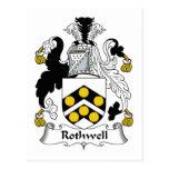 Escudo de la familia de Rothwell Postal