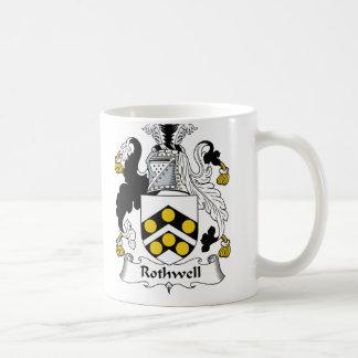 Escudo de la familia de Rothwell Taza