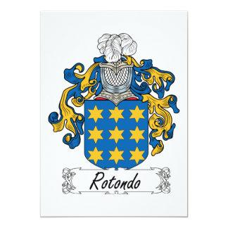 """Escudo de la familia de Rotondo Invitación 5"""" X 7"""""""
