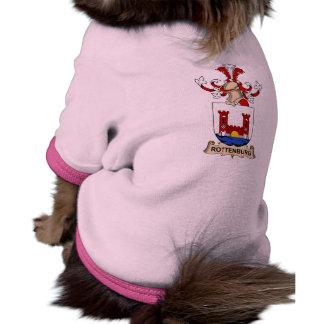 Escudo de la familia de Rottenburg Camiseta Con Mangas Para Perro
