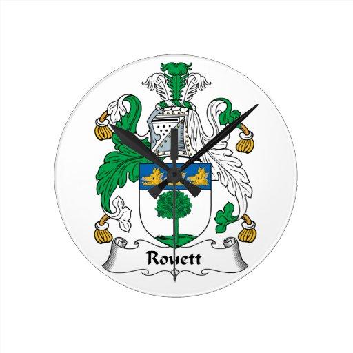 Escudo de la familia de Rouett Reloj Redondo Mediano