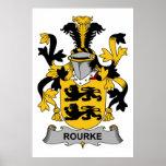 Escudo de la familia de Rourke Impresiones