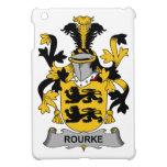 Escudo de la familia de Rourke iPad Mini Carcasas