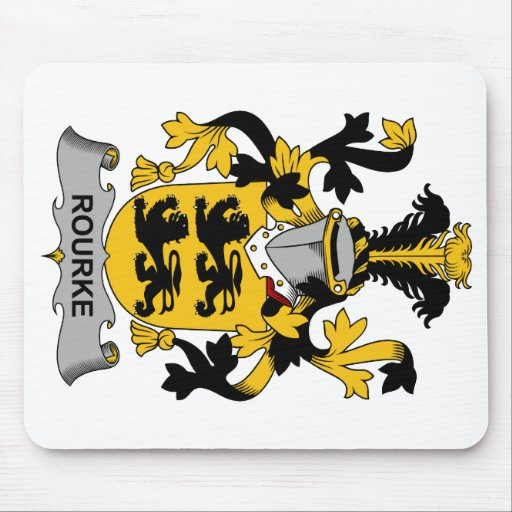 Escudo de la familia de Rourke Mouse Pad