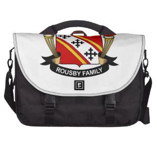 Escudo de la familia de Rousby Bolsas Para Portátil