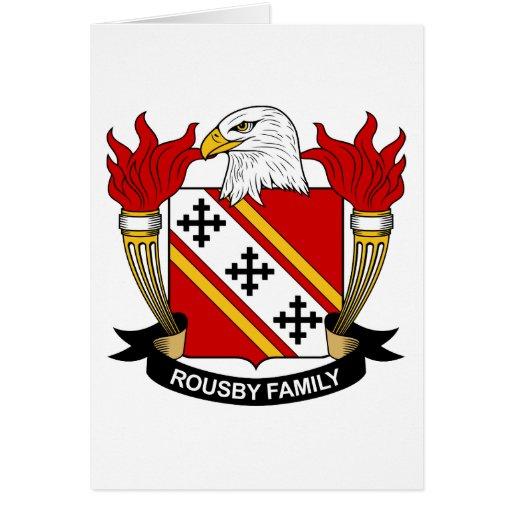 Escudo de la familia de Rousby Tarjeta De Felicitación