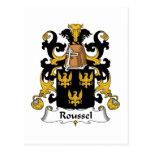 Escudo de la familia de Roussel Tarjeta Postal