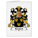 Escudo de la familia de Roussel Tarjetas