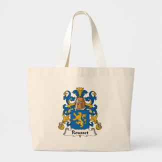 Escudo de la familia de Rousset Bolsa De Mano