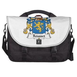 Escudo de la familia de Rousset Bolsa Para Ordenador