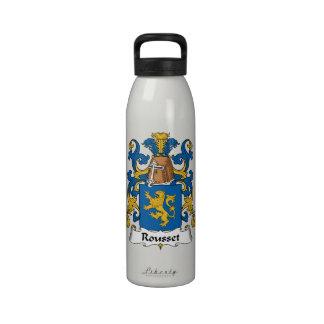 Escudo de la familia de Rousset Botella De Agua