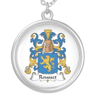 Escudo de la familia de Rousset Colgantes Personalizados