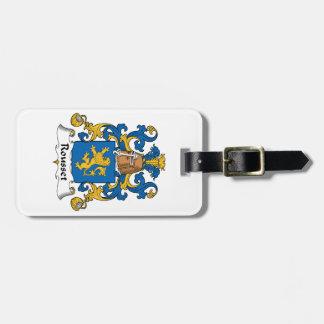 Escudo de la familia de Rousset Etiqueta Para Maleta