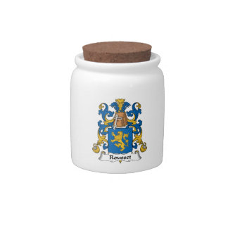 Escudo de la familia de Rousset Platos Para Caramelos