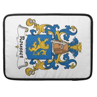 Escudo de la familia de Rousset Fundas Macbook Pro